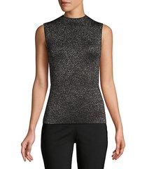 friedy lurex virgin wool-blend sleeveless top