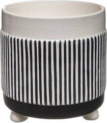 kwietnik ceramiczny osłonka stripes black
