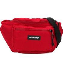 balenciaga explorer belt pack - red