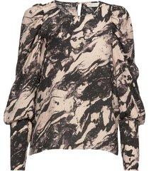 groiw blouse blouse lange mouwen zwart inwear