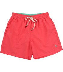 short baño peaceful coral polo ralph lauren traveler unicolor