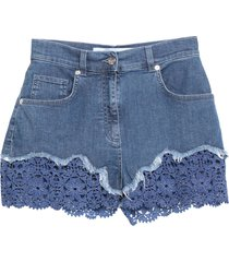 anna molinari blumarine denim shorts