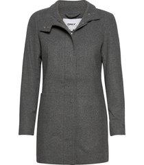 onlchrisa life wool coat cc otw wollen jas lange jas grijs only