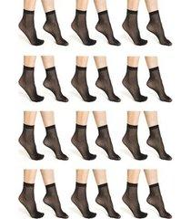 kit 12 pares meias trifil soquetes fio 20 feminino - feminino