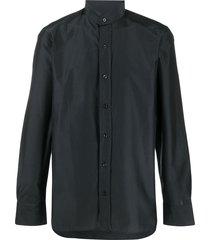 tom ford high collar shirt - blue