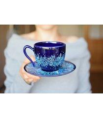 filiżanka błękitny kobalt ceramiczna 270ml