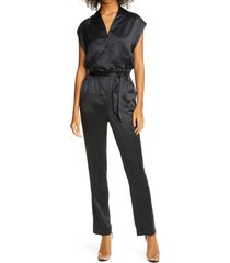 women's rta cynthia silk satin slim jumpsuit