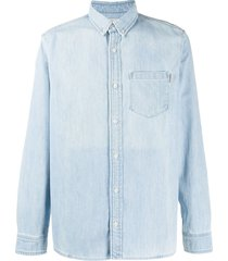 carhartt wip slouchy fit chest pocket shirt - blue