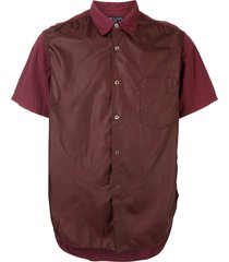 comme des garçons pre-owned nylon fronted shirt - red