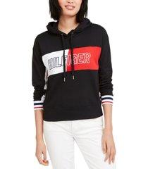 tommy hilfiger sport colorblocked logo hoodie