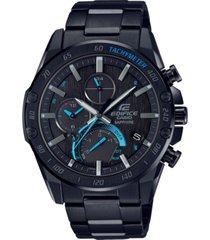 g-shock men's solar connected edifice black stainless steel bracelet watch 45.6mm