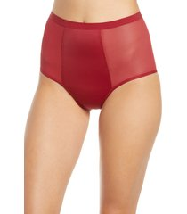 women's thinx period proof high waist panties, size medium - burgundy