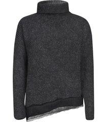 fabiana filippi turtleneck lace detail sweater