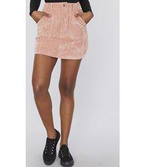 falda cotelé básica palo rosa  mujer corona