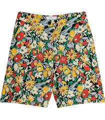 blommiga shorts med hög midja