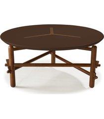 mesa de centro twist 761 cacau/marrom escuro - maxima