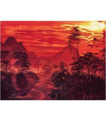 "david lloyd glover amazon sunset canvas art - 15"" x 20"""