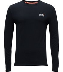 o l vintage embroidery l/s tee t-shirts long-sleeved blå superdry