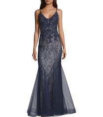 women's xscape sparkling lace mermaid gown