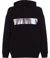 givenchy metallic logo hoodie