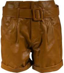 federica tosi belted leather shorts