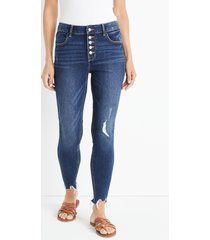 maurices womens jeans cool comfort high rise ripped jegging blue denim