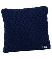 capa de almofada tricot 45x45 c/zíper sofa cod 354.6 azul marinho