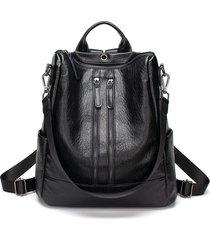 mochila de mujer/ bolsas de cuero para mujer mochilas-negro