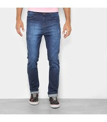calça jeans skinny danger estonada cintura alta masculina