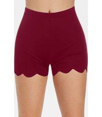 scalloped skinny mini shorts