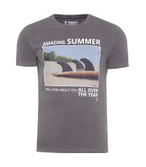 t- shirt masculina amazing - sergio k - cinza