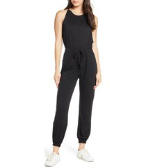 women's fraiche by j halter neck drawstring waist jumpsuit
