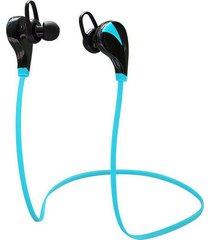 audífonos bluetooth manos libres inalámbricos, g6 auricular inalámbrico audifonos bluetooth manos libres  stereo deportes mp3 música manos libres sweatproof (azul)