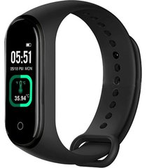 smartband pulsera inteligente m4 pro control ritmo cardiaco negro