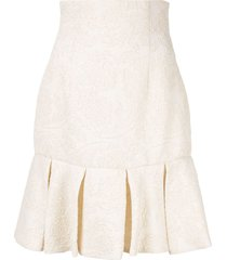 bambah short ruffled skirt - white