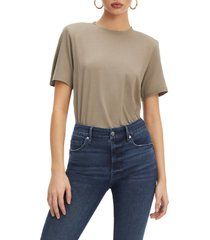 good american strong shoulder tee, size 0 in brindle002 at nordstrom