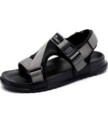 uomini canvas gancio loop opend dito del piede confortevoli sandali casual