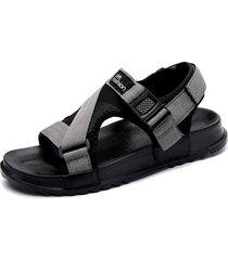uomini canvas hook hook opend toe confortevoli sandali casual