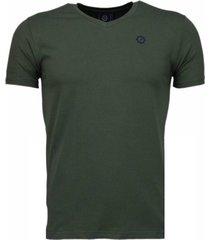basic exclusieve - t-shirt - leger groen