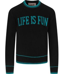 alberta ferretti black sweater for girl