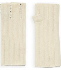 embellished cashmere arm warmers