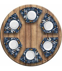 jogo americano love decor para mesa redonda wevans espirito natalino kit com 6 pçs