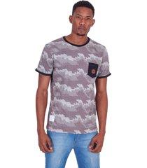 camiseta ecko especial pocket estampada preta