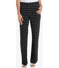 vince camuto women's textured foulard straight leg pull on pants