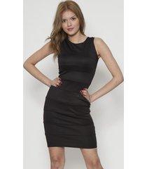 vestido de dama ajustado negro 609seisceronueve