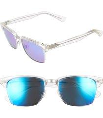 maui jim 'kawika - polarizedplus(r)2' 54mm sunglasses in crystal at nordstrom