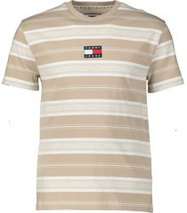 tommy jeans t-shirt - slim fit - beige