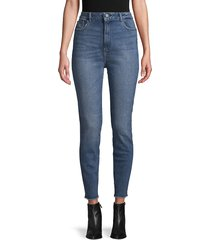 dl1961 premium denim women's chrissy ultra high-rise crop jeans - seville - size 26 (2-4)