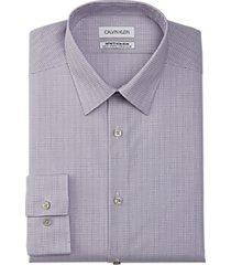 calvin klein infinite non-iron slim fit dress shirt violet check