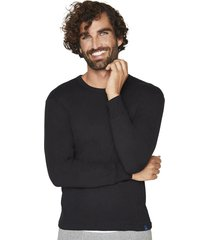 camiseta manga larga algodón negra mota